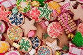 Decorated Christmas cookies — Stock Photo