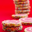 Stock Photo: Spiral sprinkled cookies