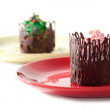 Stock Photo: Desserts in chocolate fences