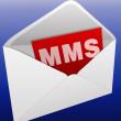 MMS in the envelope — Stockfoto