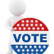 Voting badge — Stock Photo