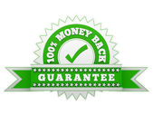 Money Back Guarantee sign — Stock Photo
