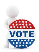 Voting badge — Stock Photo