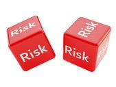 Risiko-würfel — Stockfoto