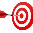 A dart hitting the target — Stock Photo