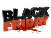 Black Friday crushing ground — Stock Photo