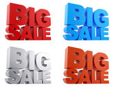 Big Sale text in 4 different colors — Stock Photo