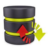 Database icon — Stock Photo