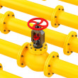 Yellow pipes — Stock Photo