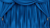 Blue curtains — Stock Photo