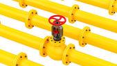 Žlutá potrubí — Stock fotografie