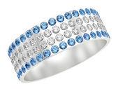 Ring with diamonds — Stock Photo