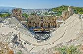 The roman Odeion of Herodes Atticus. Acropolis. Athens — Stock Photo