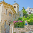 Old byzantine church of Agios Nikolaos Ragavas. Plaka. Athens — Stock Photo