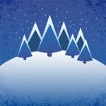 Frozen winter landscape - illustration — Stock Photo #14685815