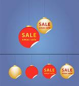 クリスマス セール ステッカー セット. — ストック写真