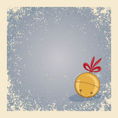 Winter background - single jingle bell. — Stock Photo
