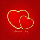 Two velvet hearts. Valentin´s vector. — Stock Photo