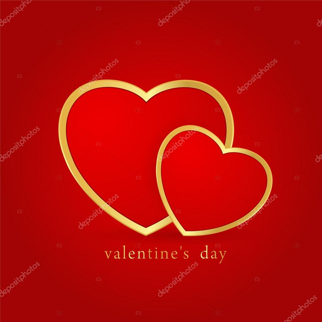 Red valentines background with decorative hearts. Good as greating card too.  Stock Photo #15311033