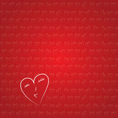 Valentine's wallpaper with small hearts. Sweet vector background — Stock Vector