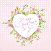 Floral Valentin's background. Discreet Valentine's motive, with — 图库矢量图片