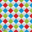 Vector colorfully mosaic. Simple pattern in four trendy colors.  — Vettoriali Stock