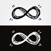 Vector hand-draw infinity. Infinity symbol, conceptual, iconic, — Stock Vector