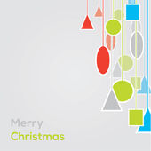 Vector geometric christmast background. unconvetional christmas — Stock Vector