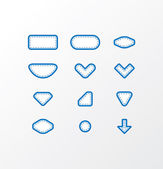 Pack of vector fabric icons. Simple shapes with space for your t — Stock Vector