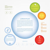 Vector circle template. Circles with space for your content in t — Stock Vector