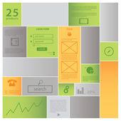современный дизайн прямоугольник шаблон с пространством для вашего содержания. bl — Cтоковый вектор