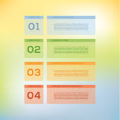 Vector modern design template. Four steps in different colors. — Stock Vector