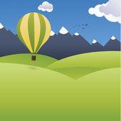 Olas estilizadas vector. motivo iconográfico colorido con espacio — Vector de stock