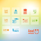 Vector last minute icon pack. Nine different last minute icons f — Stock Vector
