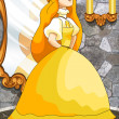 Princess Cinderella character cartoon vector illustration — Stock Photo #22510997
