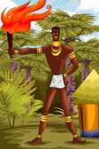 African man character cartoon style vector illustration — Stock Photo