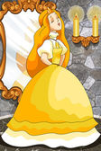 Princess Cinderella character cartoon vector illustration — Stock Photo
