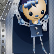 Meccano iron boy character cartoon style vector illustration - Stock Photo