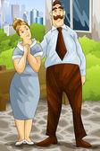 Parents character cartoon style vector illustration — Stock Photo