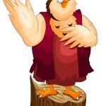 Owl academic character cartoon style vector illustration white b — Stock Photo