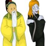 Japanese man woman pair clipart cartoon style vector illustratio — Stock Photo #23743581
