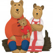 Bears family character cartoon style vector illustration white b — Stockfoto