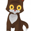 Cat little kitten character cartoon style vector illustration wh - Stock Photo