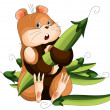 Hamster peas character cartoon illustration white background — Stock Photo