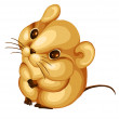 Hamster mouse rodent character cartoon style vector illustration — Stok fotoğraf