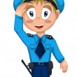 Stock Photo: Mmilitipolice character cartoon style vector illustration white backround isolated cut