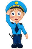 Man militia police character cartoon style vector illustration white backround isolated cut — Stock Photo