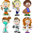 Stock Photo: Kids profession clipart cartoon style vector illustration white background isolated cut