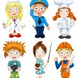 Professions clipart cartoon style vector illustration white background isolated cut — Stok fotoğraf