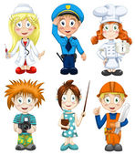 Professions clipart cartoon style vector illustration white background isolated cut — Stock Photo